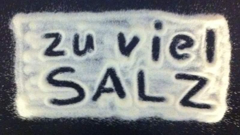 Salz macht uns krank!